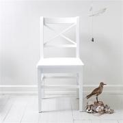 OLIVER Furniture Stuhl groß mit Kreuzlehne