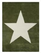 LORENA Canals Wollteppich Stern grün military