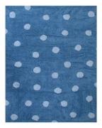 LORENA Canals Kinderteppich Punkte hellblau