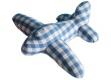 Pakhuis Oost blaues Karo Flugzeug  24cm x 30cm x 9 cm